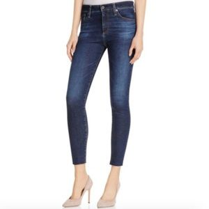 AG Farrah High Rise Skinny Crop Ankle Jeans Dark